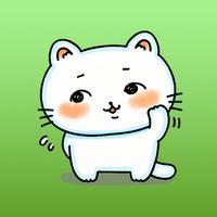 Mimi The Adorable White Kitten Sticker