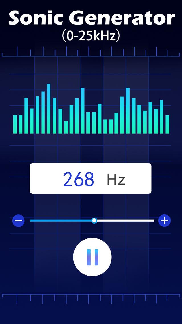 Sonic Hz Generator App for iPhone - Free Download Sonic Hz
