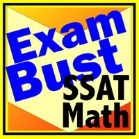 SSAT ISEE Math Prep Flashcards Exambusters
