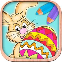 Color Easter eggs - Paint bunnies coloring game for kids