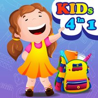 4 In 1 Kids Games Fun Learning - Coloring Book, Jigsaw Puzzles, Memory Matching, and Connect Dots