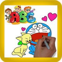 ABC kids paint - Finger doodle alphabet color