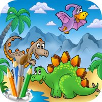 Dino Saurs Coloring Book For Kids
