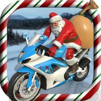 Santa Motorbike Racer Pro