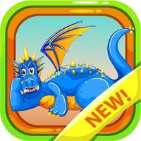 Dragon Jumping over Dinosaur