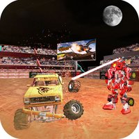 Robot vs Monster Trucks War