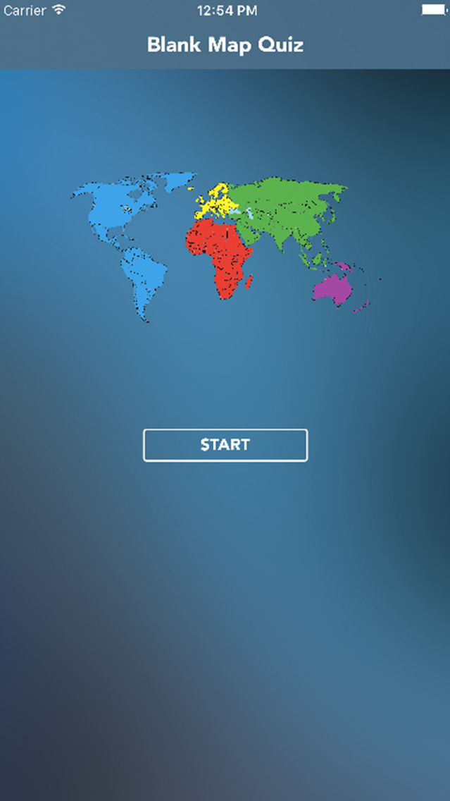 Blank world map quiz : Countries geograpy trivia App for iPhone