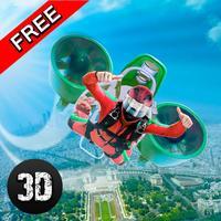City Sky Diving Air Stunts