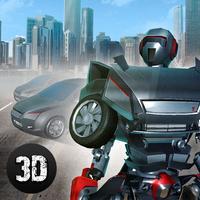 Futuristic Robot Transformer Attack