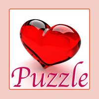 Tile Puzzle Pro - Love Edition with romantic images of loving couple, sweet heart, passionate kisses and beautiful flowers.