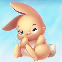 Cute Rabbit! Stickers