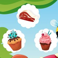 A candy game for children: Find the mistake in the bakery