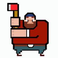 Timber Logger Man Arcade - Chop the Tree