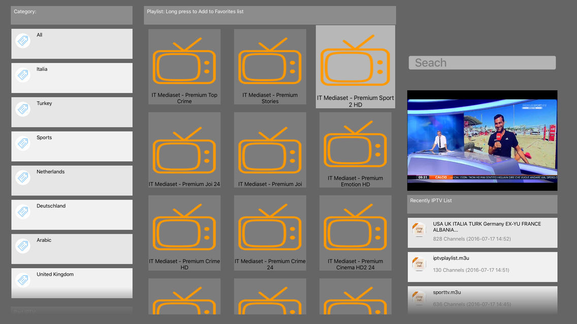IPTV AMAZING (Support M3U, XSPF, XML Playlist) App for