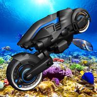 Flying Police Submarine Bike