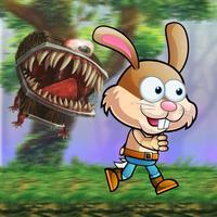 little rabbit shooting monster in the island
