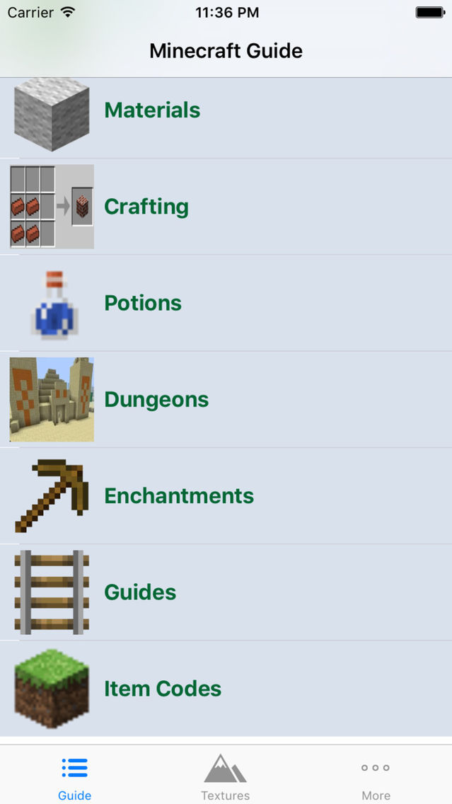 CraftGuide - Mobs and Textures Guide for Minecraft App for