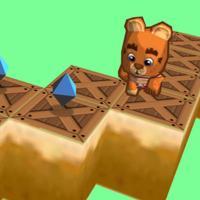 Zigzag jumpy bear 3D - Endless jump and run on zig zag road