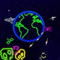 Neon Asteroids Attack