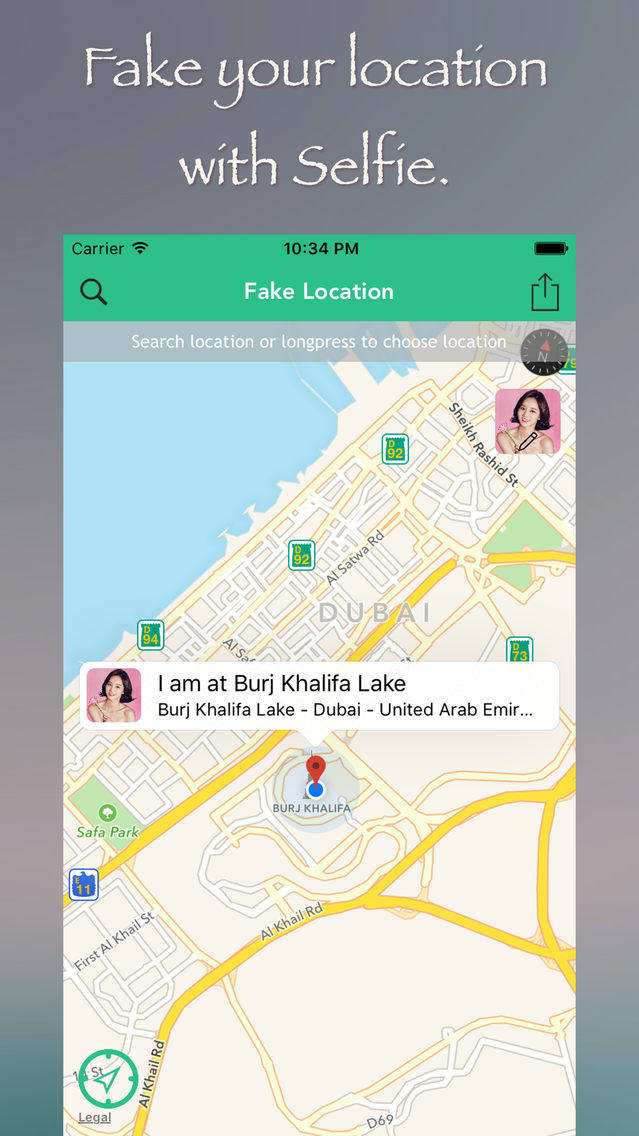 Fake Location for GPS Spoofer with Selfie App for iPhone - Free