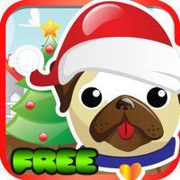 Pet Pug Xmas Eve Run : Free