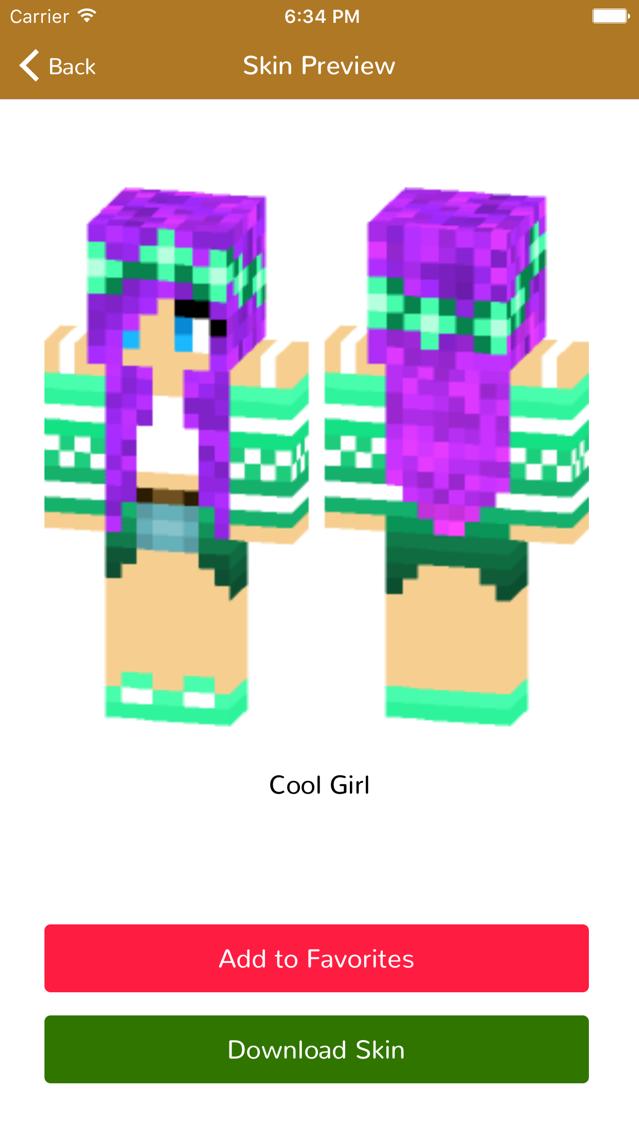 Girl Skins for Minecraft Pocket Edition-MCPE Skins App for