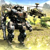 Futuristic Helicopter Robot Machine War