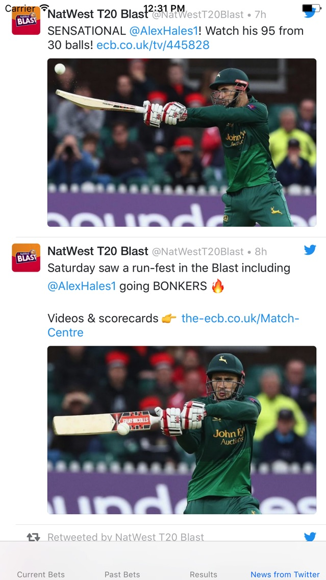Betting Tips for Natwest T20 Blast 2017 Tournament App for iPhone