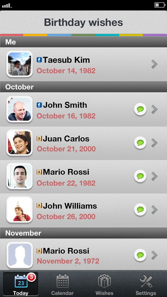 MyBirthday Wish List App For IPhone