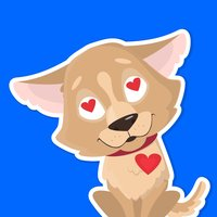 Puppy is my Buddy stickers emo
