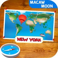 Puzzle! World: Learning city with flashcards - Macaw Moon