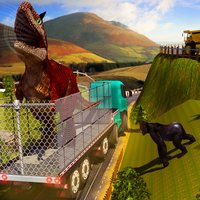 City Zoo Angry Dino Transport Truck Simulator Game