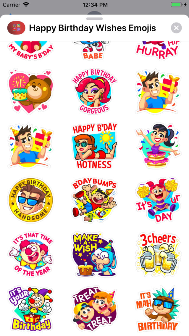 Happy Birthday Wishes Emojis App For IPhone