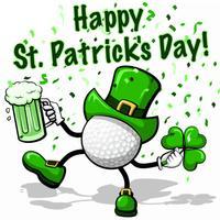 Golf St. Pat's Stickers