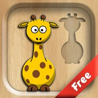 Wooden Puzzles - funny game for kids