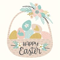 Hand Drawn Easter Day Stickers