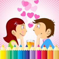 Valentine Day Coloring Book - All In 1 Drawing, Paint And Color Games HD For Good Kid