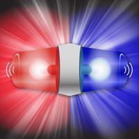 صوت ونغمة دورية شرطة اسعاف مع لواح