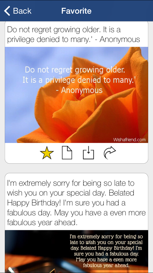 Happy Birthday Cards Messages IPhone