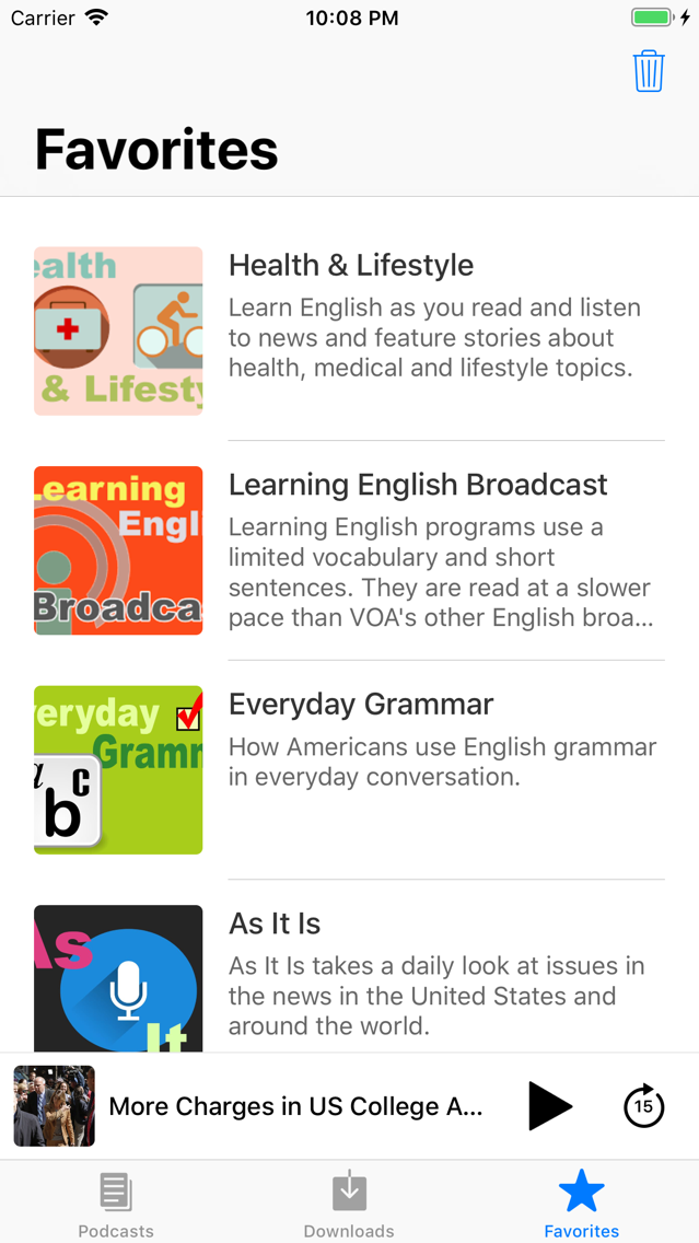Learn English by Listening VOA App for iPhone - Free Download Learn