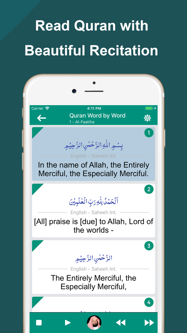Quran Word by Word Translation App for iPhone - Free