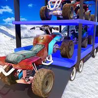Snowmobile Transport Truck - Snow Blower Driving