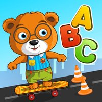 ABC Go Skateboard with Bear Free - Alphabets learning game for preschoolers and kids