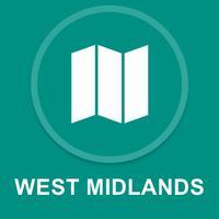 West Midlands, UK : Offline GPS Navigation