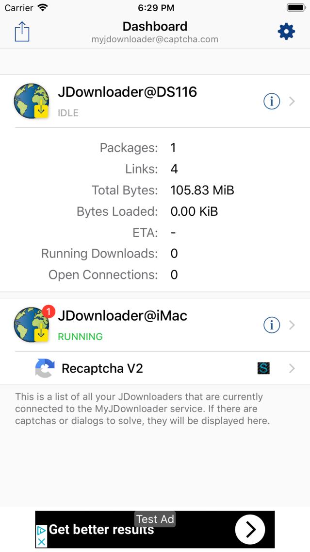 MyJDownloader Captchas App for iPhone - Free Download MyJDownloader