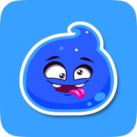 Blue Jelly Cute Animated Stickers for Messaging