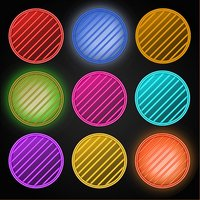 Neon Ball Matching: Clear the Line