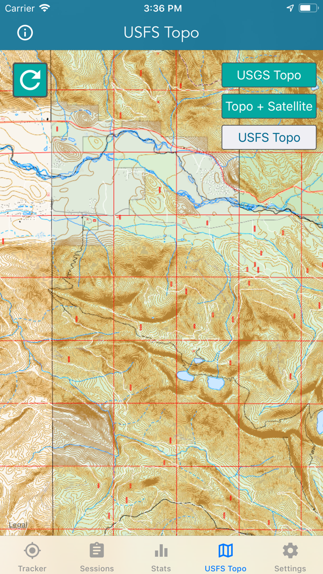 Topo Map & Hiking Tracker App for iPhone - Free Download Topo Map ...