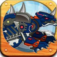 恐龙乐园-恐龙世界积木儿童拼图游戏