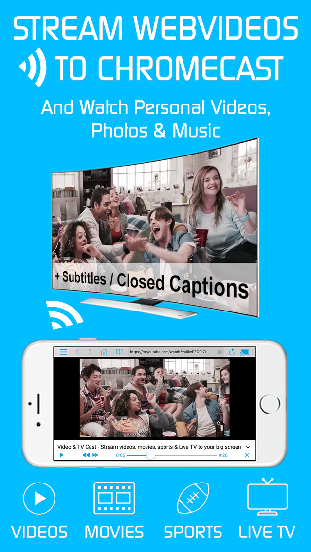 Video & TV Cast + Chromecast App for iPhone - Free Download
